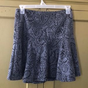 Couture flare brocade skirt
